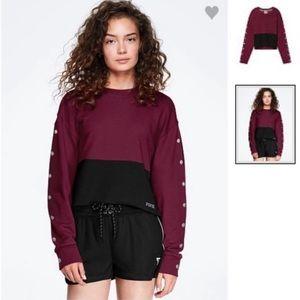 NEW!!! VS Pink crop sweatshirt size large